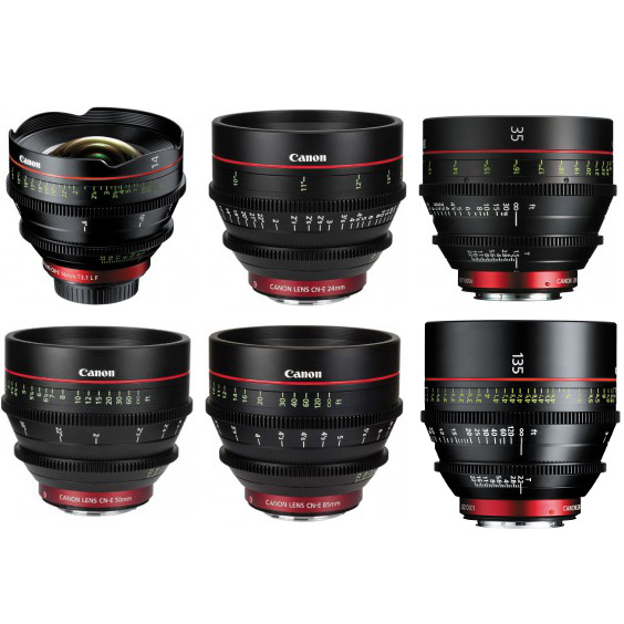 Canon 6 Lens Cinema Prime Kit