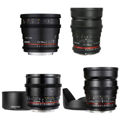 Samyang 4x Cine Lens Kit for Sony E-Mount