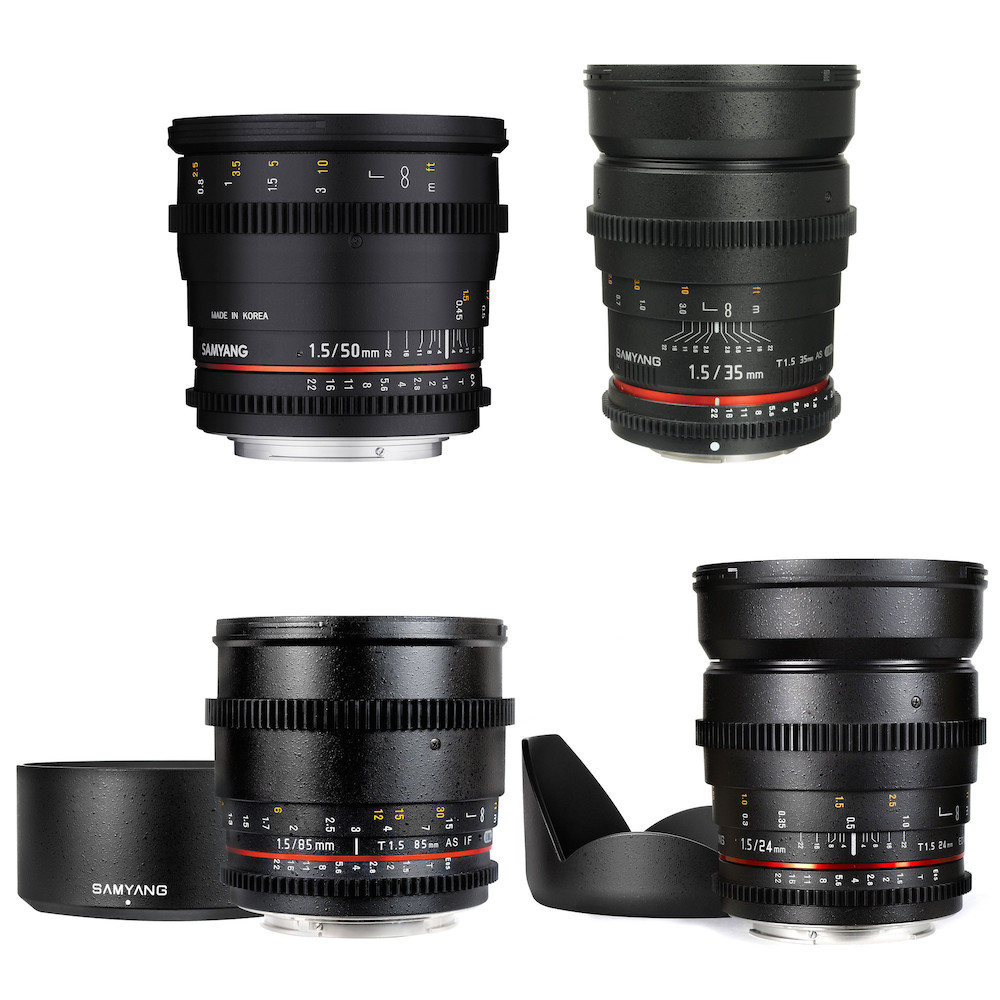 Samyang 4x Cine Lens Kit for Sony E-Mount