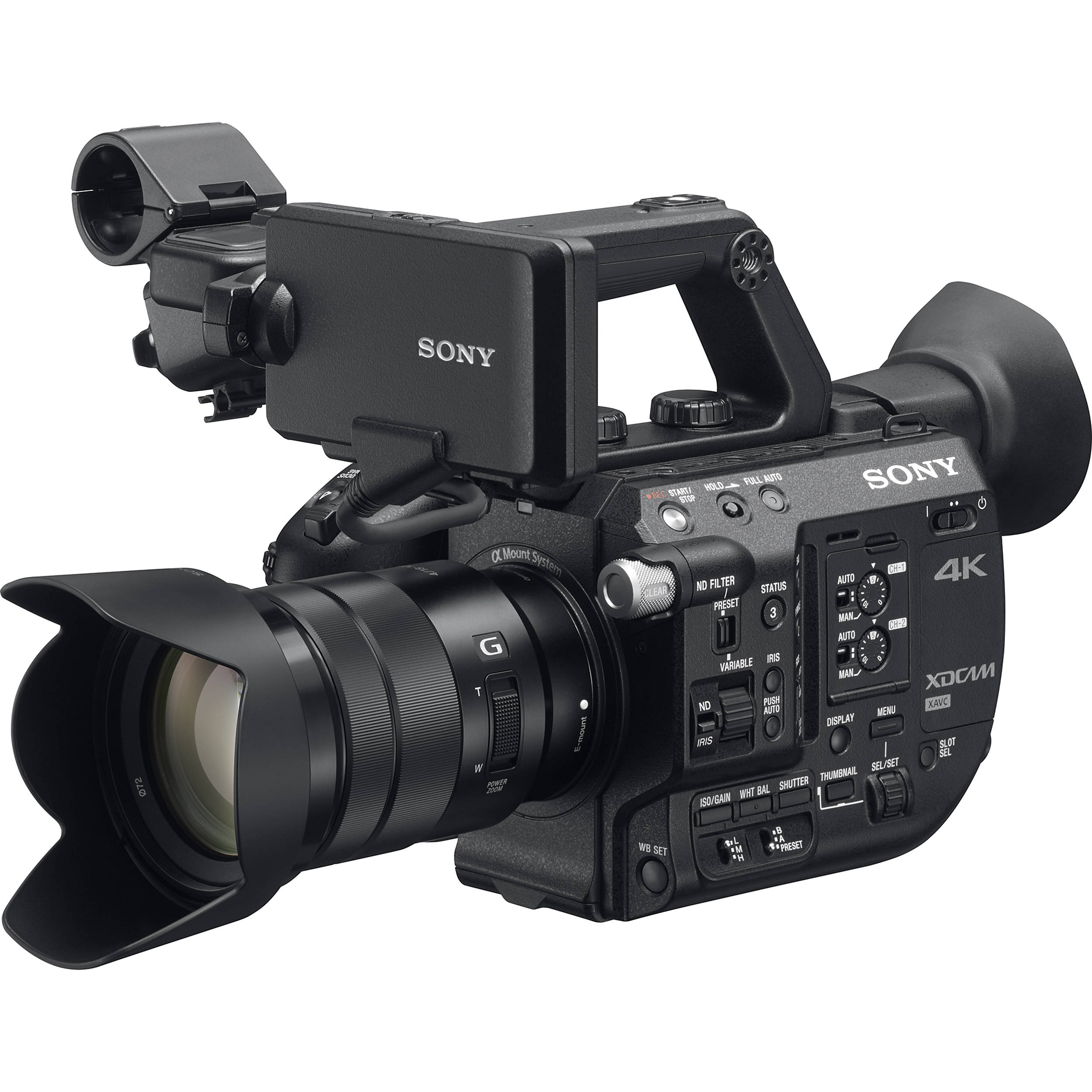 Sony-PXW-FS5-With-Lens