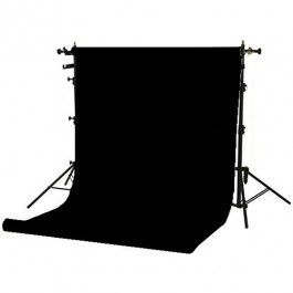 Superior Black Seamless Paper Backdrop (2.7 x 11m)