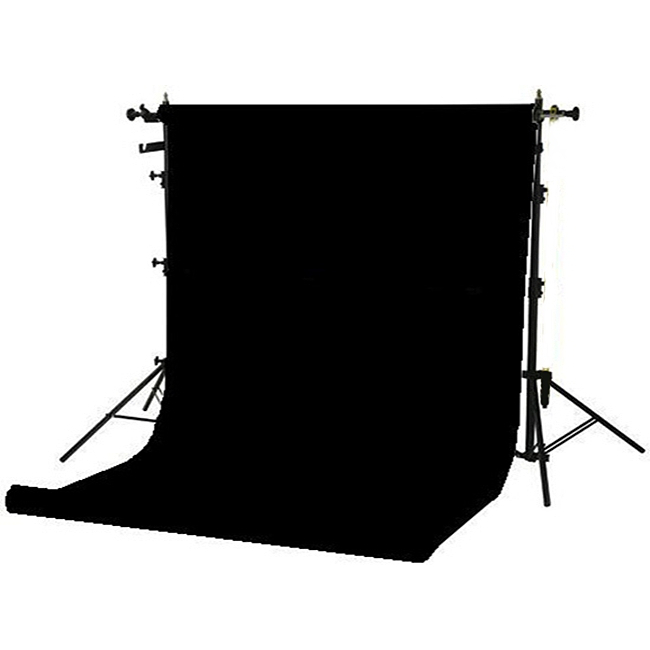 superior black seamless paper backdrop 2 7 x 11m hire rent