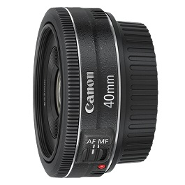 Canon 40mm f2.8 Pancake lens hire rental 40 STM
