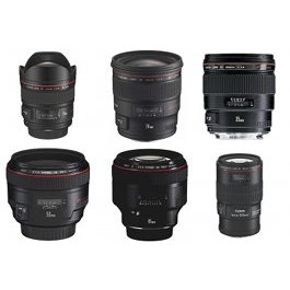 Canon six lens kit hire prime rental