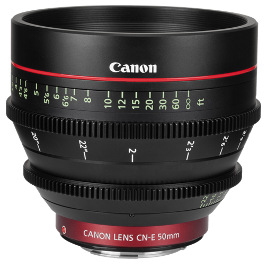 Canon CN-E 50mm Lens Hire T1.3 Cinema CNE 50