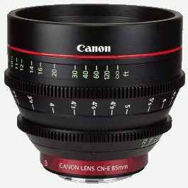 Canon CN-E 85mm Lens Hire T1.3 Cinema CNE 85