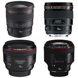 Canon lens kit hire prime rental