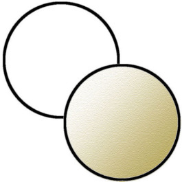"Reflector Hire Sydney Rental 32"" White / Soft Gold"
