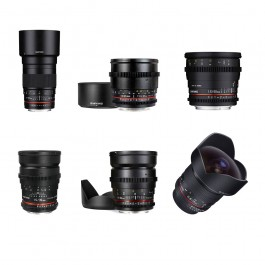 Samyang 6x Cinema Prime Lens Kit
