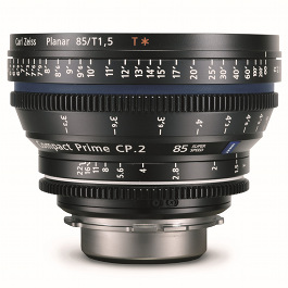Carl Zeiss CP.2 85mm Lens Hire T1.5 Super Speed 35